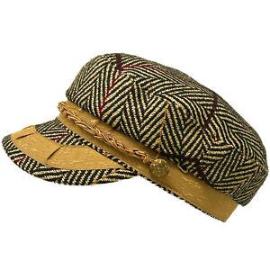 Men's Greek Fisherman Sailor Fiddler Winter Wool Driver Hat Flat Cap