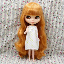 "For 12"" Neo Blythe Takara Doll 7 Joints Nude Doll Golden Long Hair~Shiny Face"