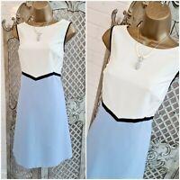 DOROTHY PERKINS 💋 UK 14 New Colour Block Smart Tailored A Line Dress Free P&P