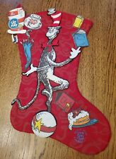 Cat In The Hat Felt Christmas Stocking Offical Movie Merchandise 2003 18""