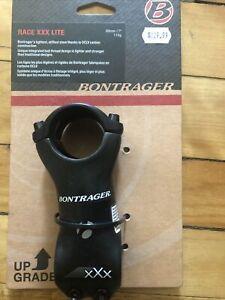 New BONTRAGER Race XXX Lite Carbon Stem 80mm x 7º rise x 31.8mm clamp - 110grams