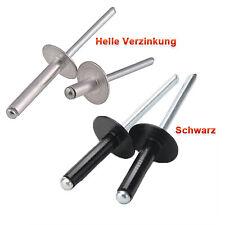 Stahl Flachrundkopf Blindnieten Dichtnieten Niet 6,0 X 18,0 mm 500 Stück Stahl