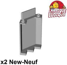 Lego - 2x Panel Panneau 3x3x6 Corner Wall mur rempart gris/l b gray 87421 NEUF