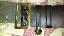 Leather Santa Claus Belt w Solid Brass Buckle hand Crafted/Pirate very beautiful