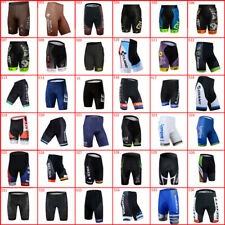 Mens Cycling Shorts Gel Pad Team Bike Trousers Breathable Racing Bicycle Outfits