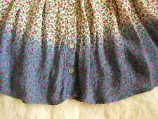 Topshop Pink Purple indigo floral flared pocket button front Ditsy mini skirt S