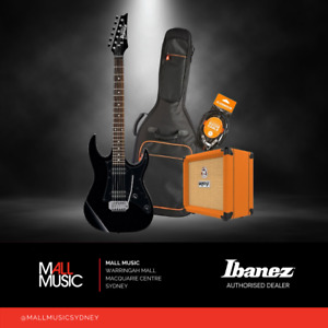 Ibanez RX22EX Electric Guitar Pack w/ Orange Crush Amp, Gig Bag + Lead BLACK