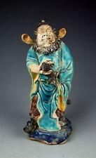Amazing China Antiques Painted Porcelain the Demon-Killer ZhongKui Statue