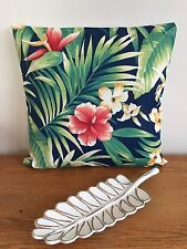 **STUNNING NEW INDOOR/OUTDOOR PALM TROPICAL FLORAL CUSHION COVER 45x45cm*
