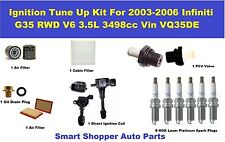 Tune Up Kit For 03-06 Infiniti G35 Air Cabin Filter, Oil Filter, Oil Drain Plug