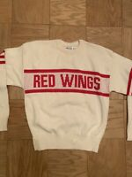 RARE & NEW Detroit Red Wings Cliff Engle Sweater Medium NHL Vintage 1980s