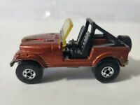 1981 Hot Wheels Jeep CJ-7 Eagle Sparkle Brown W/Blackwalls - Malaysia - Mint