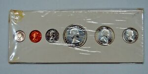Canada - 1957 - 6-Coin Proof-like Mint Set - In Original Card Holder