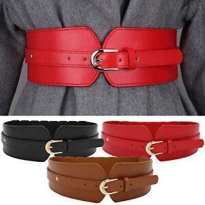Women Fashion High Waist Wide Dress Coat Belts Cinch Belt Wrap Around Waistband