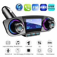 Bluetooth FM Transmitter Auto MP3 Player SD Aux Audio Dual USB Freisprechanlage