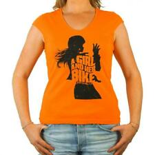 Tee Shirt moto Femme L'Entourloop Her Bike Orange taille XL