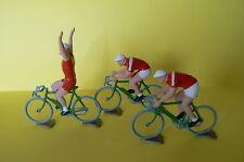 H.R / LE TOUR DE FRANCE BEL ENSEMBLE DE 3 CYCLISTES