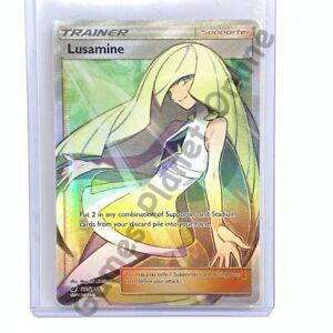 LUSAMINE 110/111 FULL ART Pokemon TRAINER Card SM04 Crimson Invasion