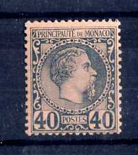 MONACO - 1885 - Effigie di Carlo III° - 40 cent. azzurro su rosa