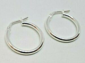 Sterling Silver Hoop Creole Earrings 1.6g NEW Xmas Gift Mum Wife BFF Present 925
