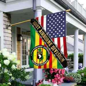 101st Airborne Division Vietnam Veteran Flag, American Flag,4th of July Flag,T03