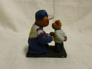 Jimmie Johnson With Boy Bear Lowes Boyds Bear Nascar Racing Figurine 919355