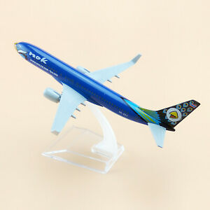 Blue 1:400 Alloy  Nok Air Aircraft model Boeing 737 Airplane Toys F Collection