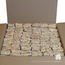 10 kg Zündling Bio-Anzünder; Kamin- & Grillanzünder aus Holzwolle und Wachs