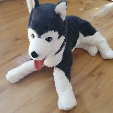 Ikea Husky Dog Soft Toy Plush Livlig LARGE 22 Inches Long