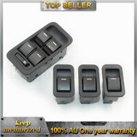 1X Master Power Window Switch + 3X Single Switch Non-illuminated For Ford SX SY