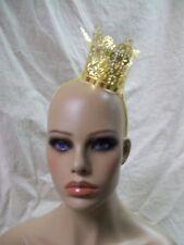 Fancy Mini Gold Filigree Metal Royal Crown Renaissance Medieval Evil Queen King