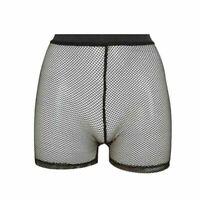 Ladies Womens Fishnet Mesh Cycling Shorts Hot Pants All Over Mesh Cycling Shorts