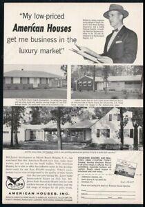 1957 Myrtle Beach Heights South Carolina photo American Houses vintage print ad