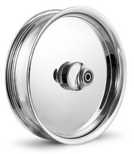 """DNA """"SMOOTHIE"""" CHROME FORGED BILLET 18"""" X 3.5"""" FRONT WHEEL HARLEY TOURING"""