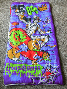 Vintage GOOSEBUMPS Skateboarding Mummy Sleeping Bag RL Stine HALLOWEEN HORROR