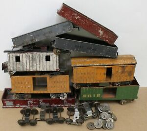 Junkyard/ Restorers Lot of 8 Lionel Standard Gauge Early Freight  Cars
