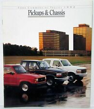 1992 Ford Commercial Trucks - Pickups & Chassis Sales Brochure