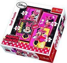 Trefl 4 in 1 35 48 54 70 Piece Girls Disney Minnie Mouse Jigsaw Puzzle