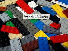 40 Lego 2-Stud Wide Flat Plates - Mixed Lengths & Colors - Bulk Lego 2Xs Lot