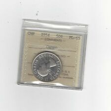 **1954**, ICCS Graded Canadian, 50 Cent, **PL-65 Cameo**