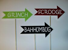 Hand Crafted Photo Booth Props Christmas / Grinch / Scrooge / Bah Humbug (2162D)