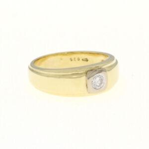 Ring 585 Gold 14 kt mit einem Brillant ca. 0,25 ct SI