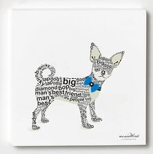 WILD ABOUT WORDS CHIHUAHUA ART DECOR WALL HANGING PLAQUE -HOLIDAY GIFT-NEW(7877)
