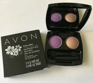 NEW Avon True Color Eyeshadow Duo - Luscious Orchid