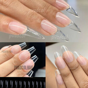 Gel Tips Nail Extension System Full Cover Sculpted Stiletto Coffin False Nails