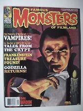 FAMOUS MONSTERS OF FILMLAND FRANKENSTEIN - GODZILLA  ENGLISH MAGAZINE # 206 1995