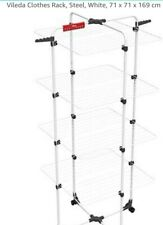 Vileda Vertical Airer Tower Clothes High 8 Independent Wings Foldable Dryer UK