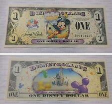 2009 Disney Dollar $1 T Series Bill- PLUTO & MICKEY MOUSE Castle Celebrate Today
