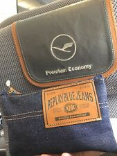 Lufthansa 2020 Premium Class Amenity Kit Pouch Replay Blue Jeans Eyemask Socks