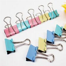 60X Metal Binder Clips for File Paper Notebook Organizer School Office Suppl YK